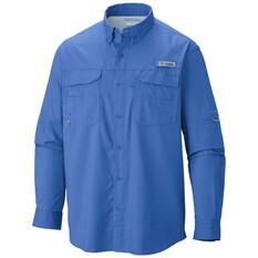 Columbia Men's Blood and Guts Long Sleeve Shirt, Vivid Blue, bcf_hi-res