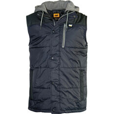 Men's Hooded Work Vest Black S, Black, bcf_hi-res