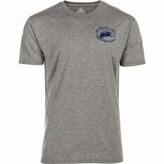 The Mad Hueys Men's Bait and Tackle UV Tee Grey / Blue S, Grey / Blue, bcf_hi-res
