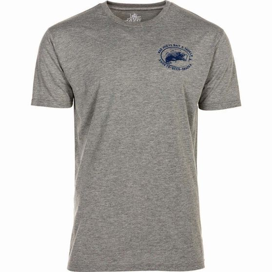 The Mad Hueys Men's Bait and Tackle UV Tee Grey / Blue L, Grey / Blue, bcf_hi-res