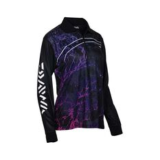 Daiwa Women's Storm Sublimated Polo Black 8, Black, bcf_hi-res