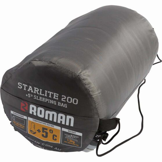 Roman Starlite 200 Hooded Sleeping Bag, , bcf_hi-res