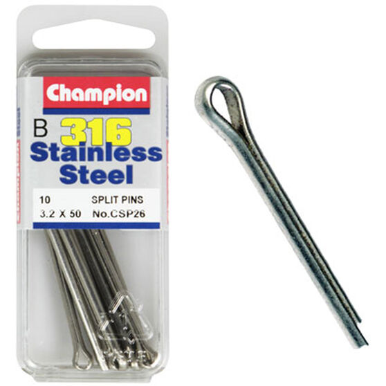 Champion Stainless Steel Split Pins 3.2x50mm, , bcf_hi-res