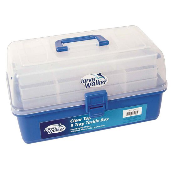 Jarvis Walker Clear 3 Tray Tackle Tray, , bcf_hi-res