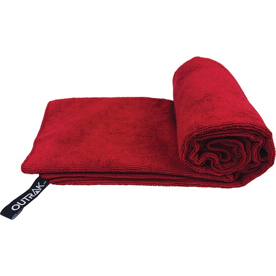 Outrak Microfibre Towel - Extra Large Deep Red, Deep Red, bcf_hi-res