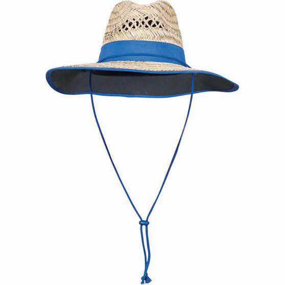 Outdoor Expedition Kids' Straw Hat Natural / Black 52cm, Natural / Black, bcf_hi-res