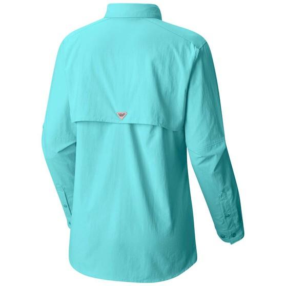 Columbia Women's Bahama II Long Sleeve Shirt, Dolphin, bcf_hi-res