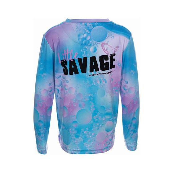 Savage Gear Girls Little Savage Sublimated Crew, Pink / Blue, bcf_hi-res