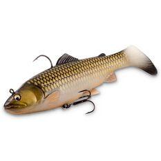Savage 3D Trout Rattle Shad Swim Bait Lure 17cm Black Gold, Black Gold, bcf_hi-res
