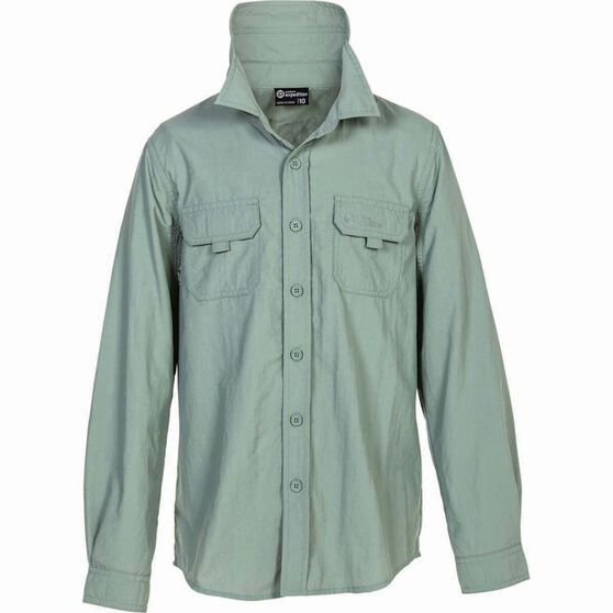 Outdoor Expedition Kid's Vented Long Sleeve Fishing Shirt 10 Iron 10, Iron, bcf_hi-res