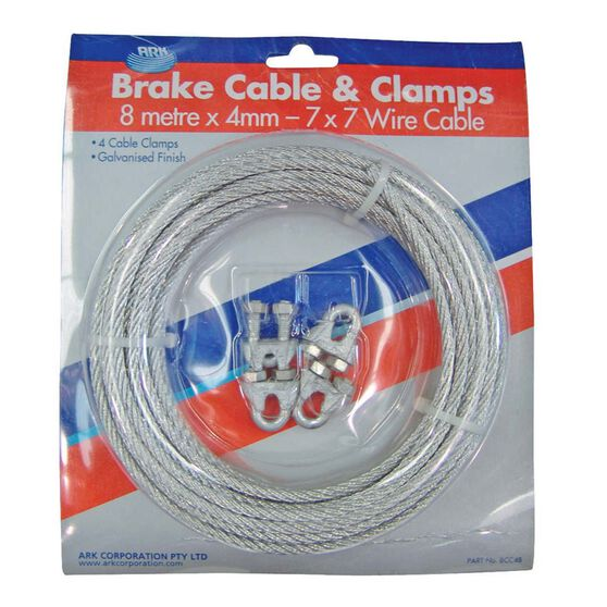 ARK Brake Cable and Clamps 8m x 4mm, , bcf_hi-res