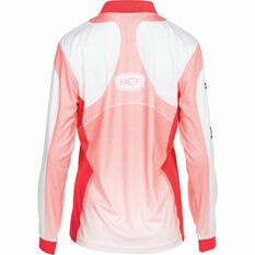 BCF Women's Corporate Sublimated Polo Coral 12, Coral, bcf_hi-res