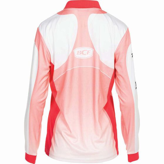 BCF Women's Corporate Sublimated Polo Coral 18, Coral, bcf_hi-res