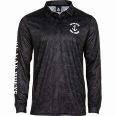 The Mad Hueys Men's Stealth Anchor UV Fishing Jersey Black S, Black, bcf_hi-res