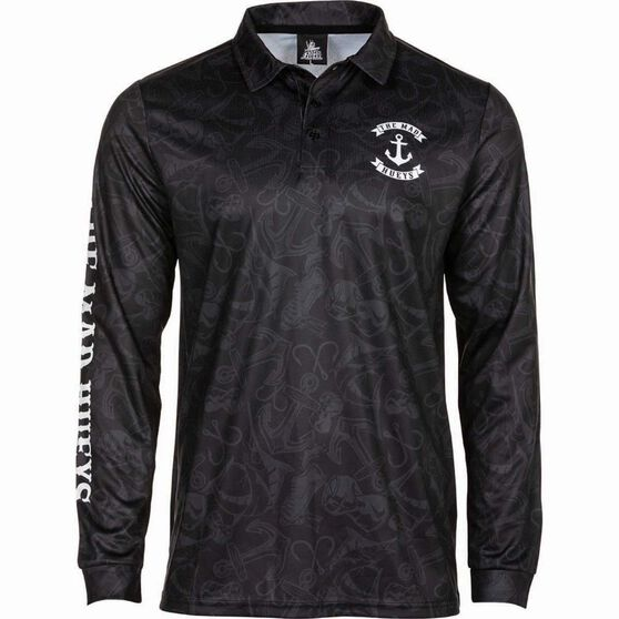 The Mad Hueys Men's Stealth Anchor UV Fishing Jersey, , bcf_hi-res