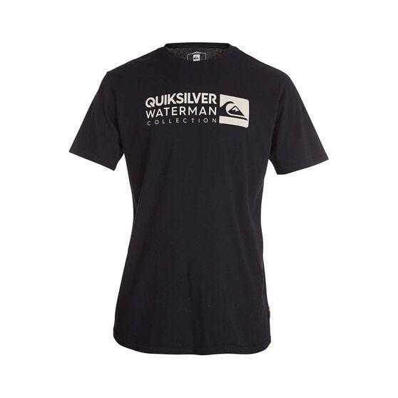 Quiksilver Waterman Men's Staple Sandwich Tee, Black, bcf_hi-res