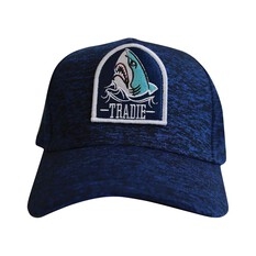 Tradie Men's Shark Attack Cap Navy Marle OSFM, , bcf_hi-res