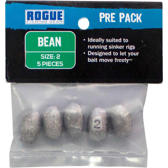 Rogue PP Bean Sinker Size 2 5 Pack, , bcf_hi-res