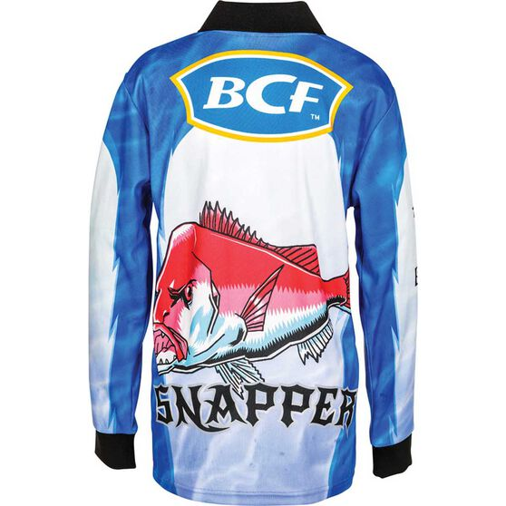 BCF Kids' Snapper Sublimated Polo Blue 14, Blue, bcf_hi-res