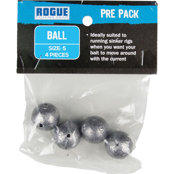 Rogue PP Ball Sinker Size 5 4 Pack, , bcf_hi-res