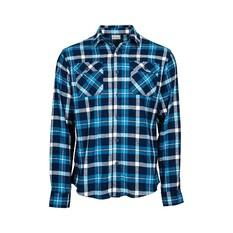 Outrak Men's Flannel Shirt Bright Teal / Navy S, Bright Teal / Navy, bcf_hi-res