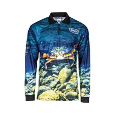 BCF Womens Mud Crab Sublimated Polo, Blue, bcf_hi-res
