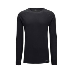 Macpac Men's Geothermal Long Sleeve Black S, Black, bcf_hi-res