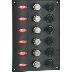 Blueline LED Switch Panel 6 Gang Vertical, , bcf_hi-res
