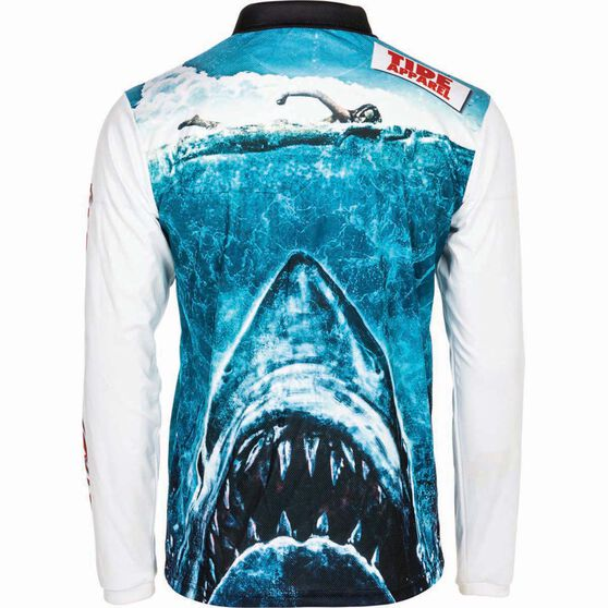 Tide Apparel Men's Jawz Fishing Jersey, Blue / White, bcf_hi-res