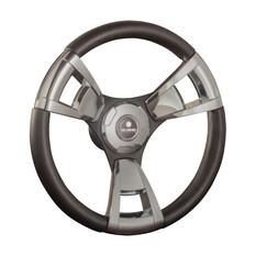 Gussi Model 13 Steering Wheel 342mm with Brushed Black Spokes, , bcf_hi-res