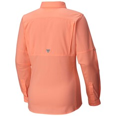 Columbia Women's Low Drag Offshore Long Sleeve Shirt Pink S, Pink, bcf_hi-res
