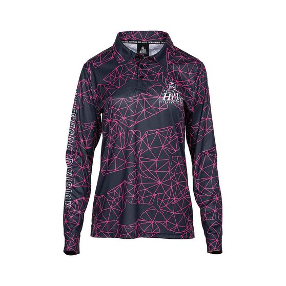 The Mad Hueys Women's Offshore Tech Fishing Jersey, Grey / Pink, bcf_hi-res