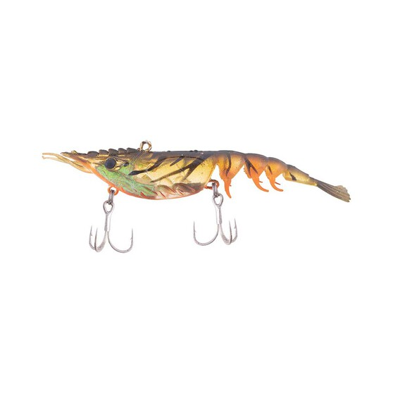 Berkley Shimma Shrimp Soft Vibe Lure 120mm Orange Belly Shrimp, Orange Belly Shrimp, bcf_hi-res