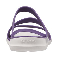 Crocs Womens Swiftwater Sandal, Mulberry / Pearl White, bcf_hi-res