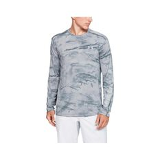 Under Armour Men's Shore Break Iso-Chill Sublimated Shirt Pitch Grey / Halo Grey L, Pitch Grey / Halo Grey, bcf_hi-res