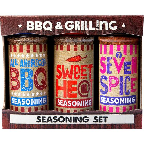 Hatcher BBQ and Grilling Seasoning Set 3x113g, , bcf_hi-res