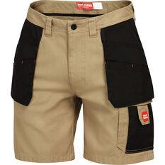 Hard Yakka Men's Xtreme Y05083 Cargo Shorts Khaki / Black 82R, Khaki / Black, bcf_hi-res