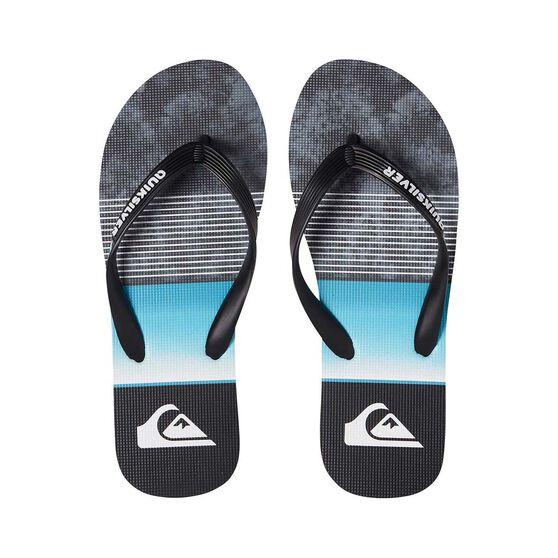 Quiksilver Waterman Men's Molokai Slab Thongs, Black / Blue, bcf_hi-res