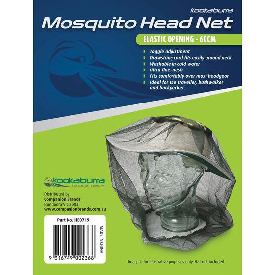 Kookaburra Mosquito Head Net Drawstring 60cm, , bcf_hi-res
