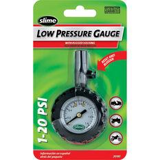 Slime Low Pressure Tyre Gauge - 1-20 PSI, , bcf_hi-res