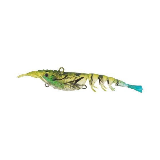 Berkley Shimma Shrimp Soft Vibe Lure 100mm Blue Tail Shrimp, Blue Tail Shrimp, bcf_hi-res