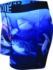 Tradie Men's Swimming With Sharks Trunk Print S, Print, bcf_hi-res
