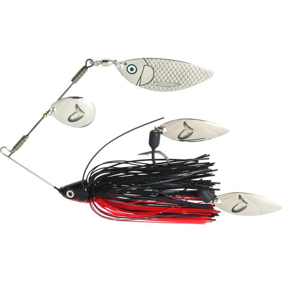 Savage TI Flex Spinner Bait Lure 17.5g Black / Red, Black / Red, bcf_hi-res