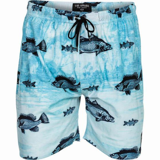 Tide Apparel Men's Barra Jack Boardshorts, Grey / Black, bcf_hi-res