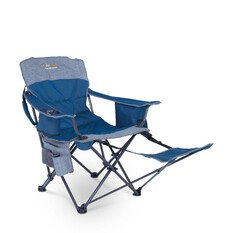 Oztrail Monarch Arm Chair With Footrest, , bcf_hi-res