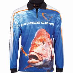 Savage Men's Snapper Sublimated Polo, Blue, bcf_hi-res