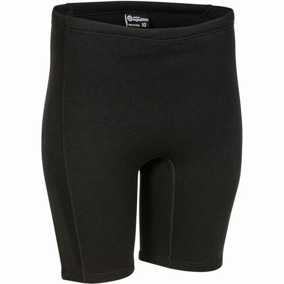 Outdoor Expedition Women's Neoprene Shorts, Black, bcf_hi-res
