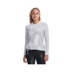 Under Armour Women's Isochill Shorebreak Sublimated Hoodie, White / Halo Gray, bcf_hi-res