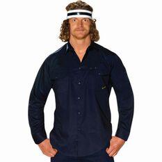 Men's Long Sleeve Drill Shirt Navy S, Navy, bcf_hi-res