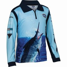 BCF Kids' Marlin 19 Sublimated Polo, Navy, bcf_hi-res